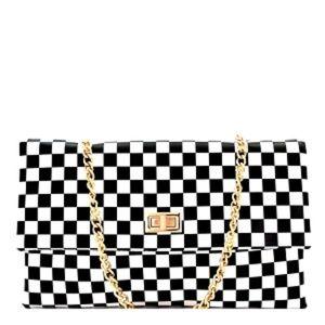 NEW Checkered Clutch Handbag